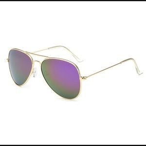 New Arrival! Aviator Sunglasses Purple/Green